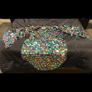 Topshop Technicolor Sequins Cape